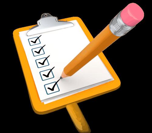 pencil_draw_checkmark_yellow_clipboard